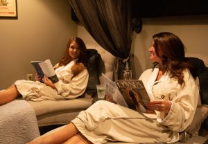 Friends in Waiting Room Spa Services Lemongrass Day Spa